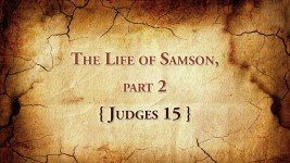 The Life of Samson, part 2 (Judges 15) Judges 15:1-8