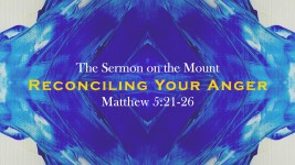 The Sermon on the Mount:  Reconciling Your Anger